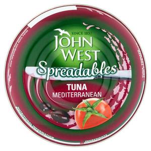 John West Tuna Spreadable Mediterran 80gm