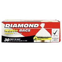 Diamond Garbage Bag Twist Tie 30pc