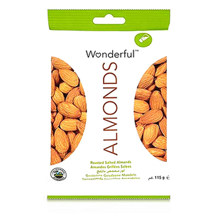 Wonderful Roasted and Salted Almonds 115g