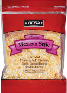 American Heritage Cheese Shredded Mexican Mix 227g
