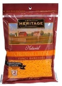 American Heritage Cheese Shredded Cheddar 227g