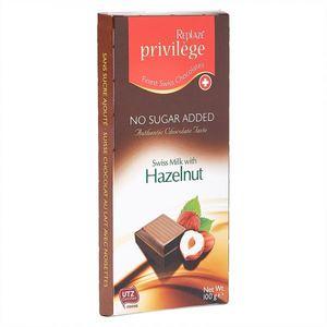 Replaze Swiss Milk Chocolate & Hazelnut 100gm