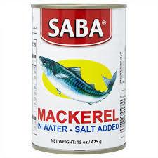 Saba Mackerel In Natural Oil Salt 425g
