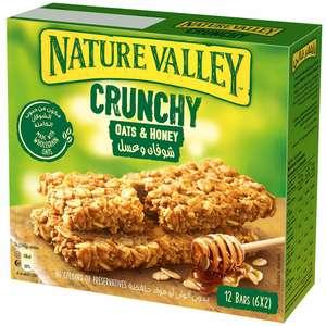 Nature Valley Crunchy Granola Bars Oats And Honey Box 6x42g