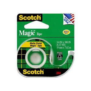 Scotch Magic Transparent Tape,3/4 X 300 In 1set