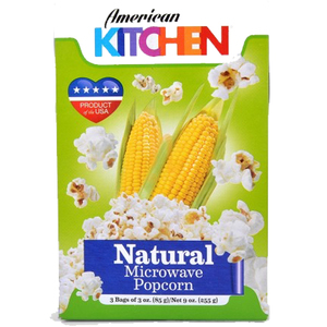 American Garden Microwaveable Popcorn Natural 85g