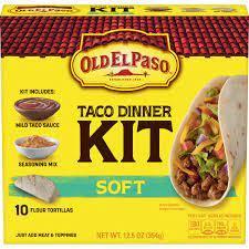 Old El Paso Soft Taco Dinner Kit 345g
