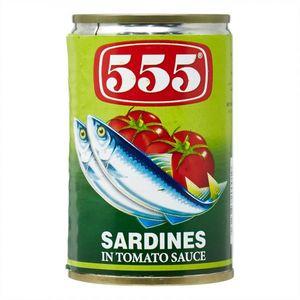 555 555 Sardines In Tomato Sauce Green 425g