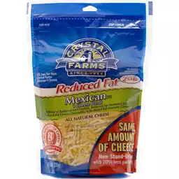 Crystal Farms Shredded Mexican 4 Cheese Blend Reduced Fat 8oz