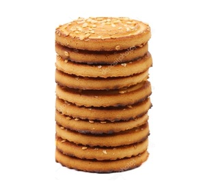 White Sesame Round Crackers 1pc