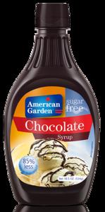 American Garden Chococlate Syrup Sugar Free 18.5oz - 524g