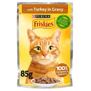 Purina Friskies Turkey Chunks In Gravy Wet Cat Food Pouch 85g