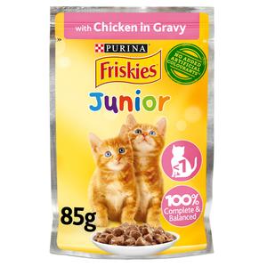 Purina Friskies Kitten Chicken Chunks In Gravy Wet Cat Food Pouch 85g