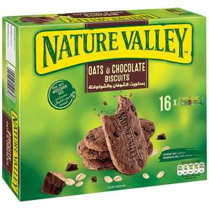 Nature Valley Plain Biscuit Oats And Chocolate Box 16x25g