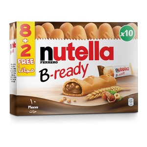 Nutella B-Ready Single Pack Pack of 8+2 Free - 220g