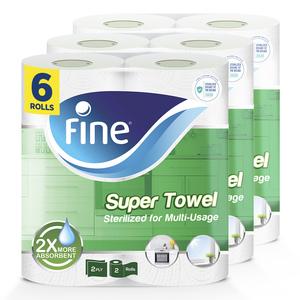 Fine Sterilized Kitchen Paper Towel Super Sterilized 6x60s
