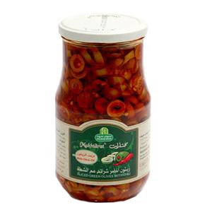 Sliced Green Olive Chili Oil 650g
