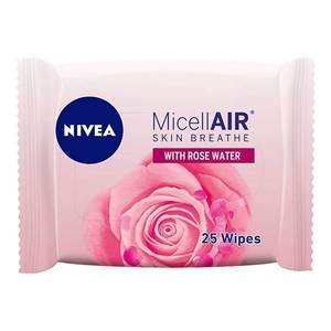 Nivea Micellar Rose Water Face Cleansing Wipes All Skin Types 25wipes