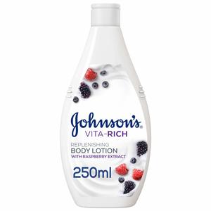 Johnson's Body Lotion Vita-Rich Replenishing Raspberry Extract 250ml