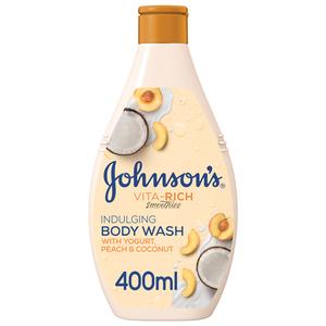 Johnson's Body Wash Vita-Rich Smoothies Indulging Yogurt Peach & Coconut 400ml