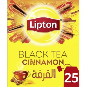 Lipton Flavoured Black Tea Cinnamon 25s