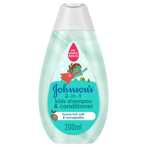Johnson's 2-in-1 Kids Shampoo & Conditioner 200ml