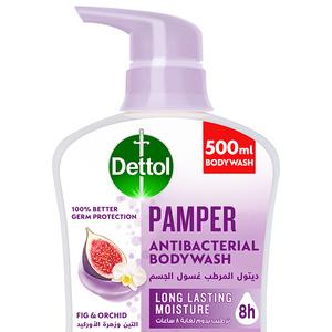 Dettol Pamper Showergel & Bodywash Fig & Orchid Fragrance 500ml