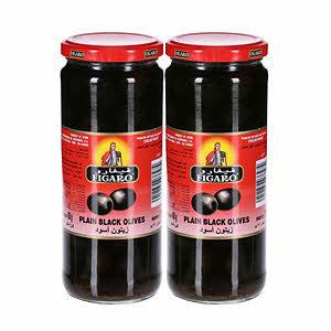 Figaro Black Olives Plain 2x270g