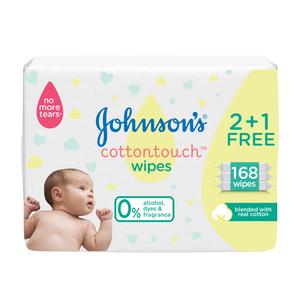 Johnson's Newborn Baby Wipes CottonTouch Extra Sensitive 168s