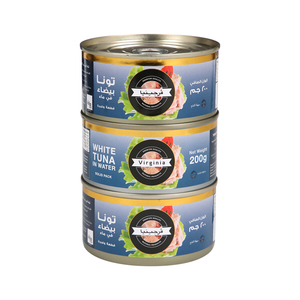 Virginia Tuna White Meat In Water 3x200g