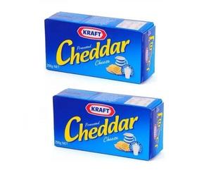 Kraft Cheddar Blocks 2x250g