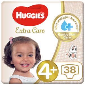Huggies Ultra Comfort Baby Diapers Size 4+ 9-20 kg 2x38pcs