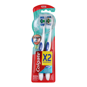 Colgate Toothbrush Medium 360 2s