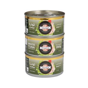 Virginia Tuna White Meat In Sunflower Oil 3x200g