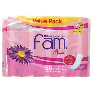 Fam Maxi Without Wings Super Sanitary Pads 50s