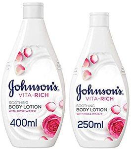 Johnson's Body Lotion Vita-Rich Soothing Rose Water 400ml+250ml