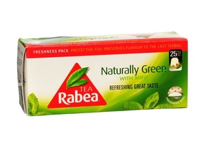 Rabea Green Tea Bags With Mint 25x2g