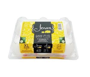 Jenan White / Brown Eggs Flip Top Large 6s