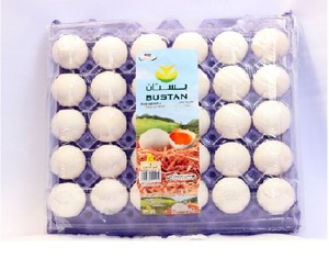 Bustan Eggs White Large Tray 30s
