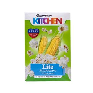 American Kitchen Microwavable Popcorn Lite 85g