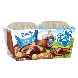 Danette Chocolate Flavour Dessert With Biscuit Topper 96g