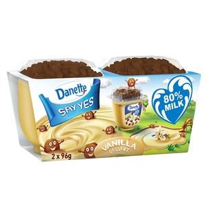 Danette Dessert Vanilla Flavour With Biscuit Topper 96g