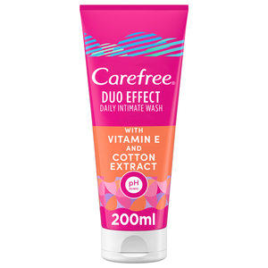 Carefree Daily Intimate Wash Duo Effect With Vitamin E & Cotton Extract 200ml