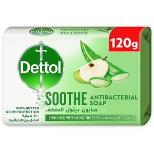 Dettol Soothe Anti-Bacterial Bathing Soap Bar Aloe Vera & Apple Fragrance 120g
