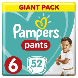 Pampers Pants Diapers Size 6 Extra Large 16+Kg Giant Pack 52 pcs