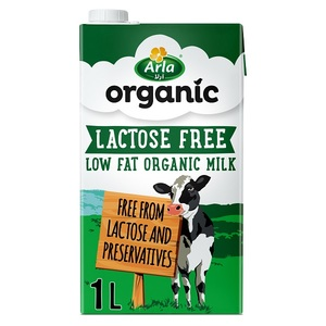 Arla Organic Lactose Free Low Fat Milk 1L