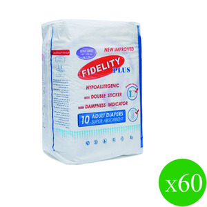 Fidelity Diapers Large 60pcs
