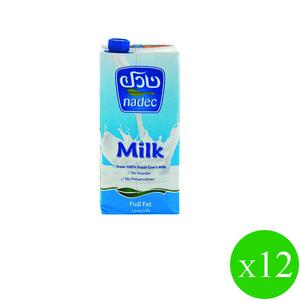 Nadec Uht L/Life Milk Skimd. 1Ltr 12x1l