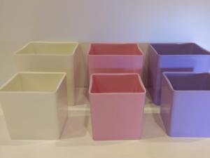 Vase Acrylic Cube 1pc