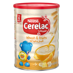 Nestle Cerelac Infant Cereals With Iron+ Wheat & Fruits Tin From 6 Months 1kg